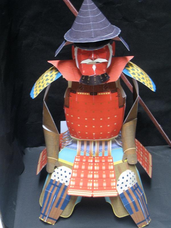 Maeda Toshimasu Armor Free Paper Model